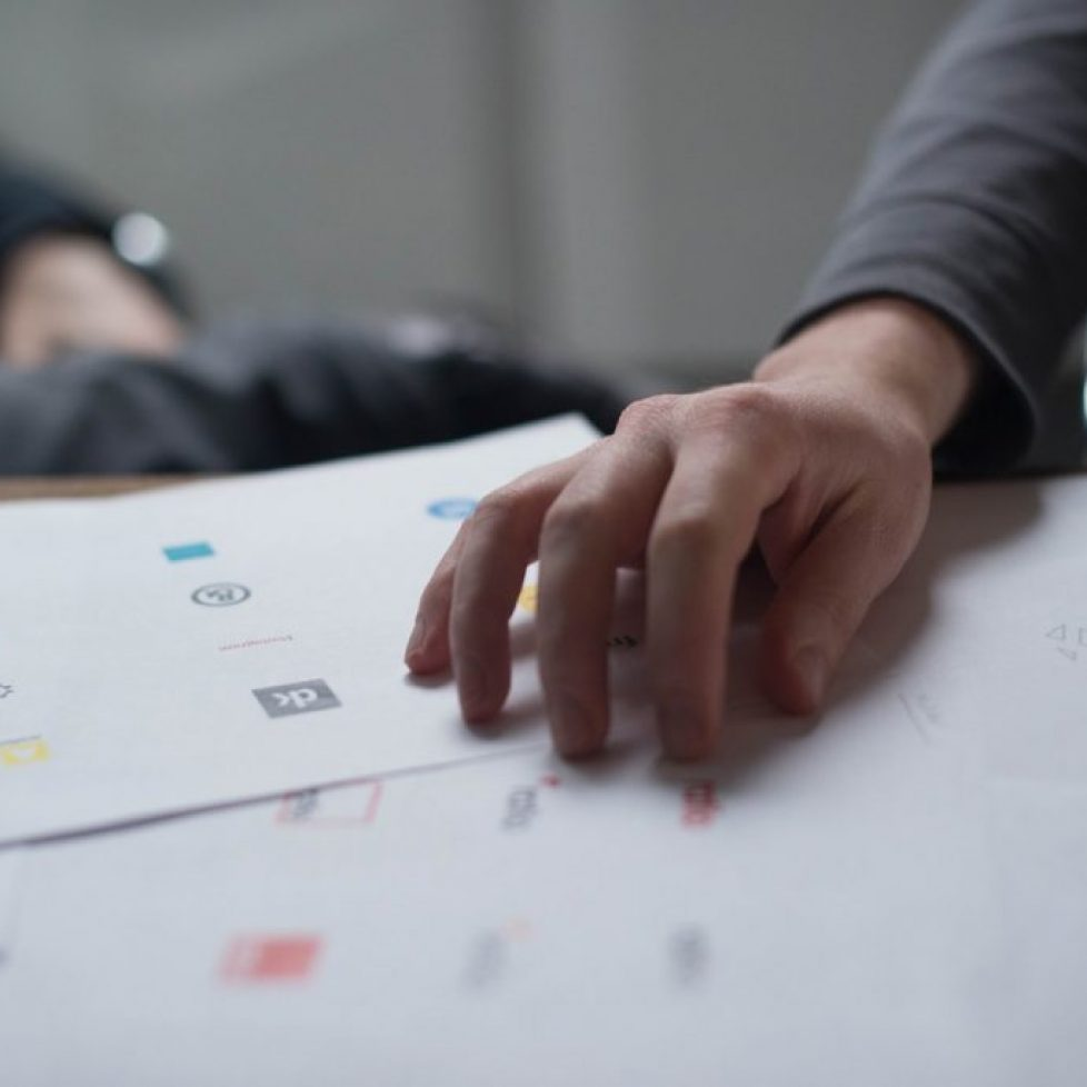 process of creating logo