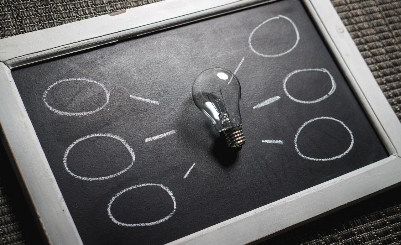 light bulb representing innovation