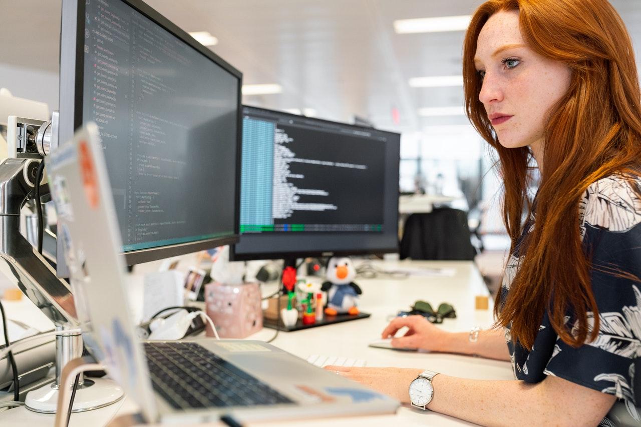 woman engineer working